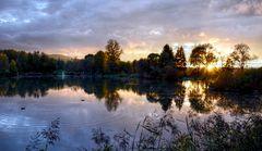 Soirée d'automne au lac