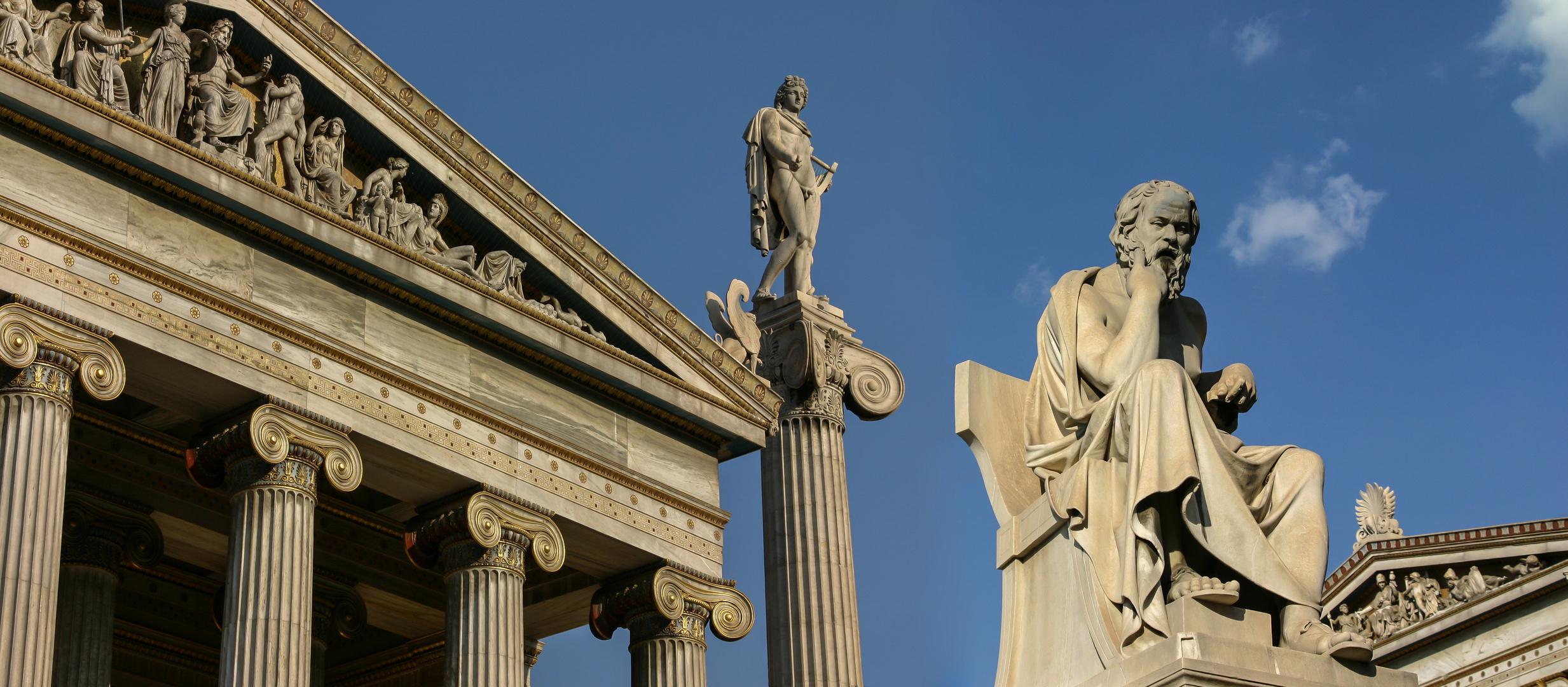 Sokrates vor der Akademie