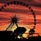soleil couchant à Nice
