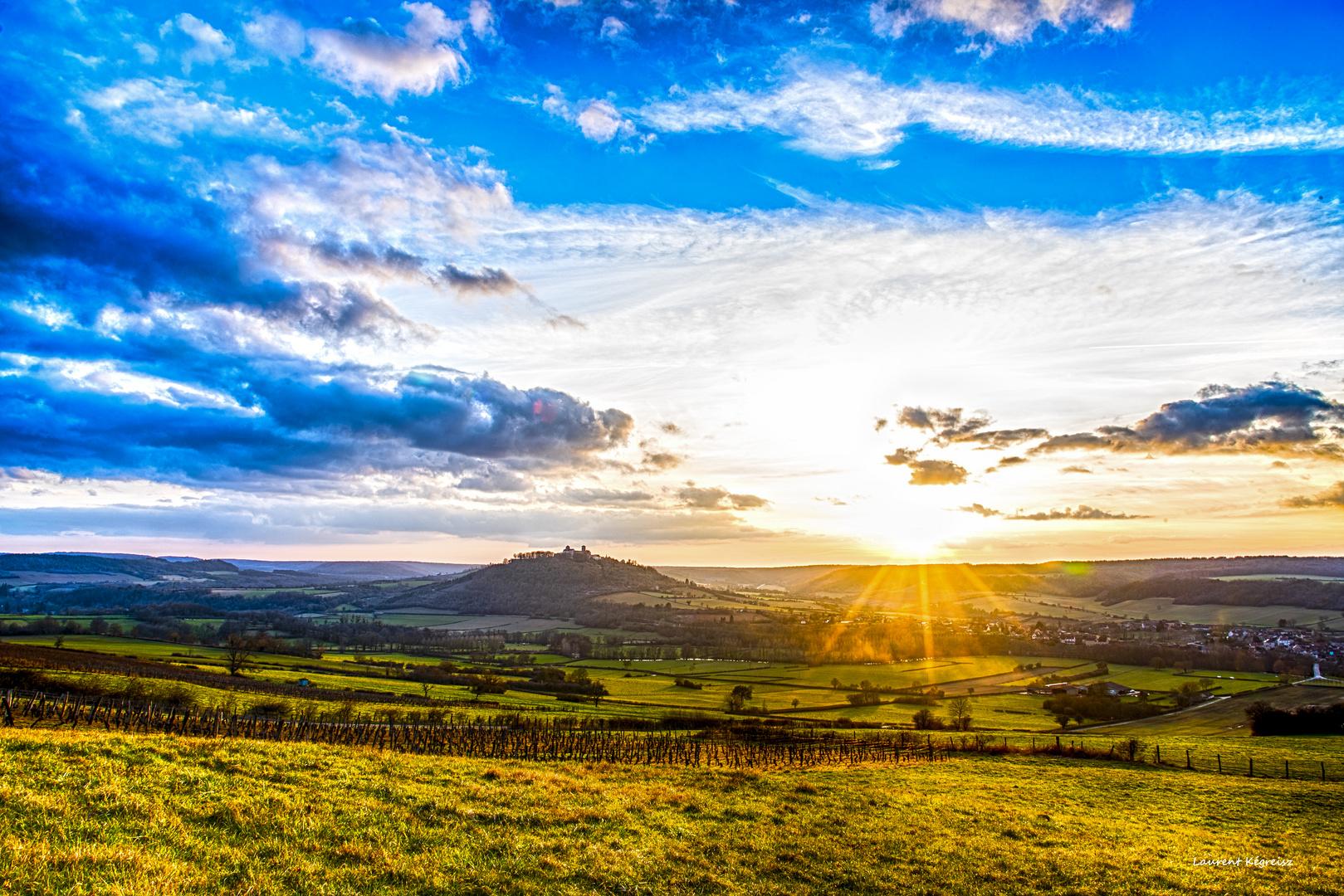 Soleil couchant à vézelay