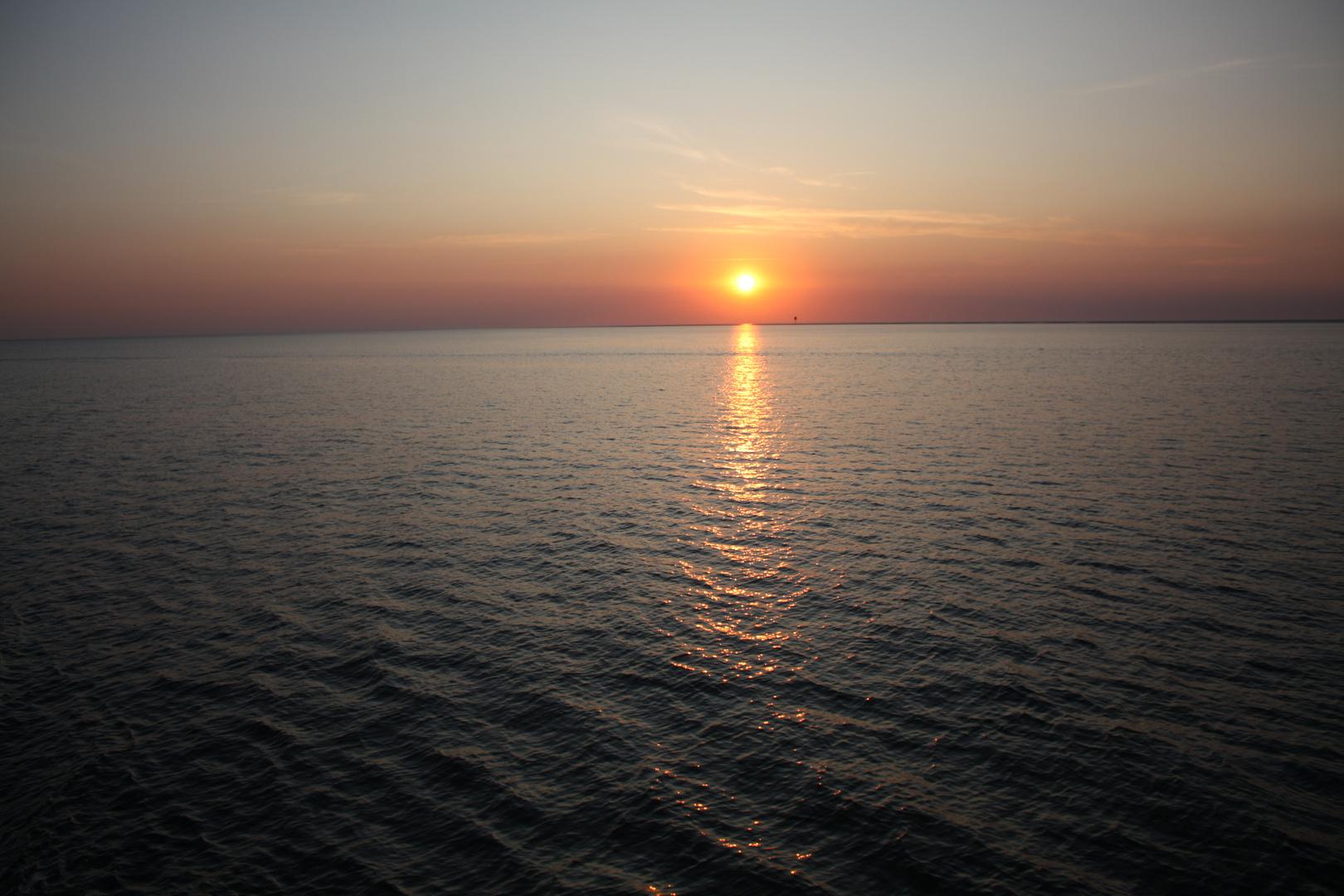 SOLEIL COUCHANT / Sonnenuntergang  BÜSUM NORDSEE