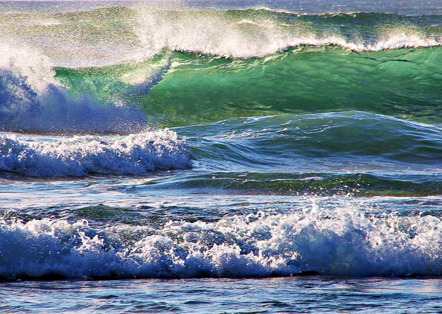 soleil dans la vague