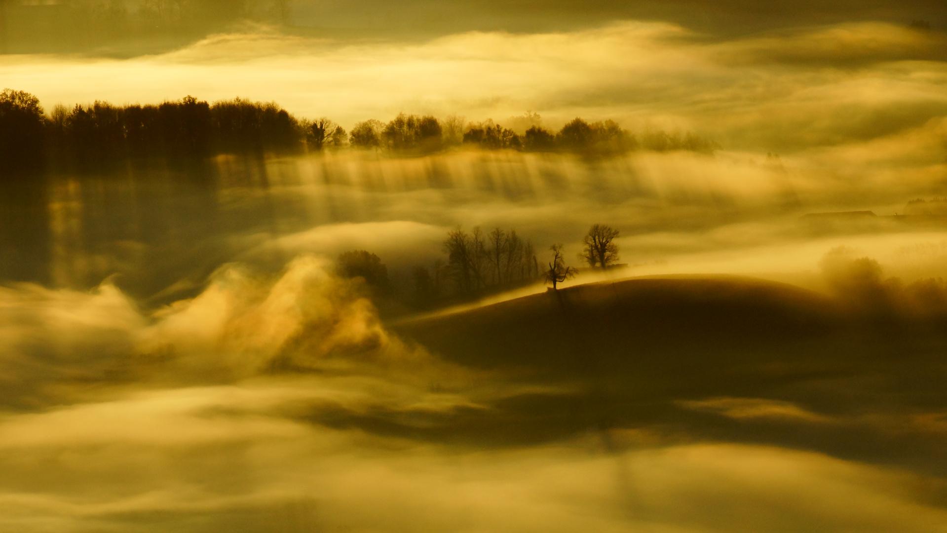 Soleil  levant au Pays Basque