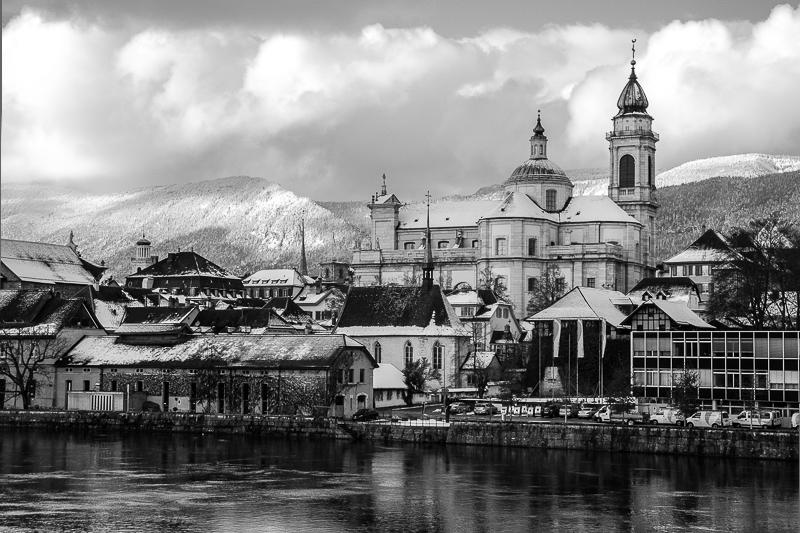 Solothurn - Kathedrale im Schnee