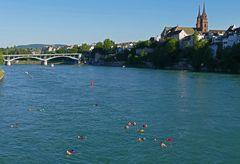 Sommer am und im Rhein