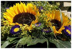 Sommer, Sonne, Sonnenblumenstrauß