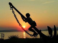 Sommer-Sonnenuntergang am Bodensee