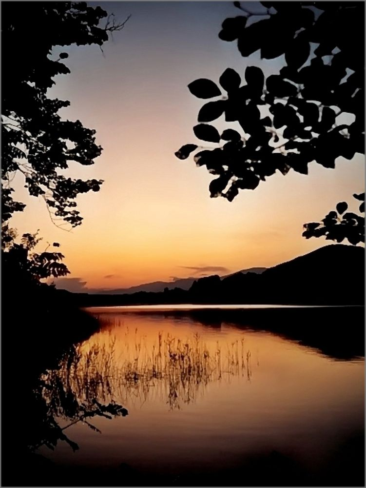 Sommerabend am Maltschachersee in Kärnten