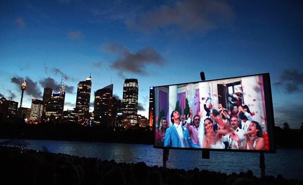 Sommerkino im Hafen von Sydney