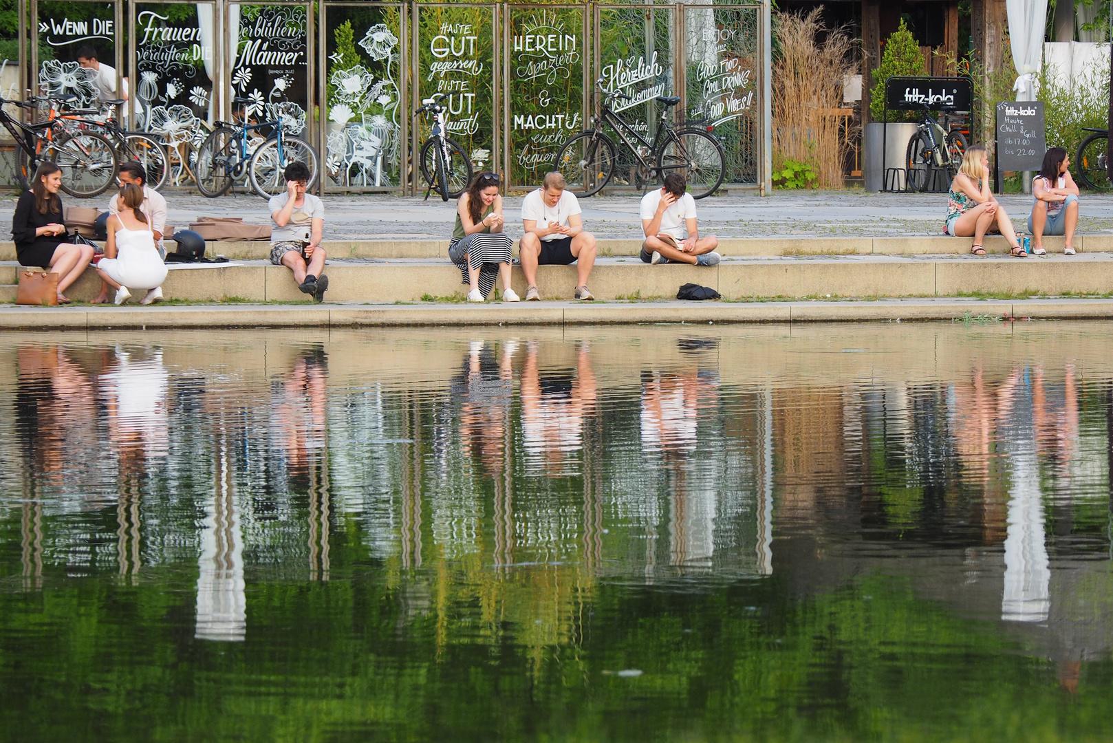 Sommerlich gespiegelt im Teich