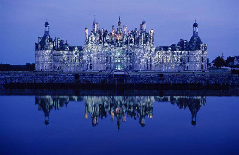 Sommernacht am Schloss Chambord