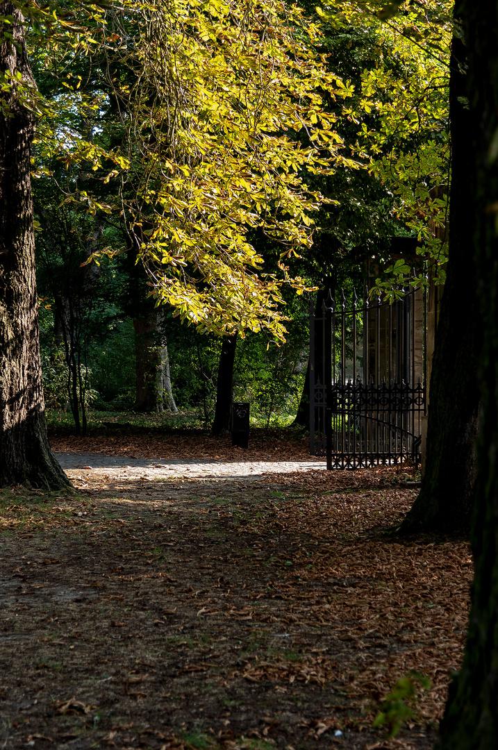 Sommerstimmung am Eingang zum Inselwall-Park in Braunschweig
