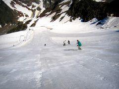 Sommervergnügen auf dem Gletscher