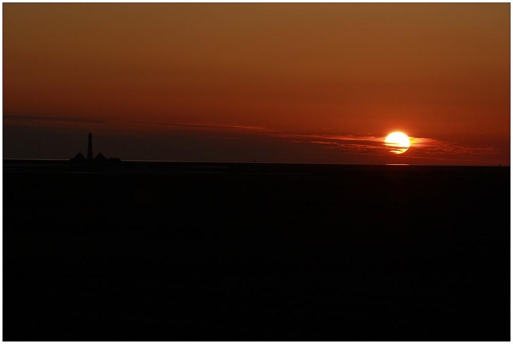 Sonne bei Westerhever