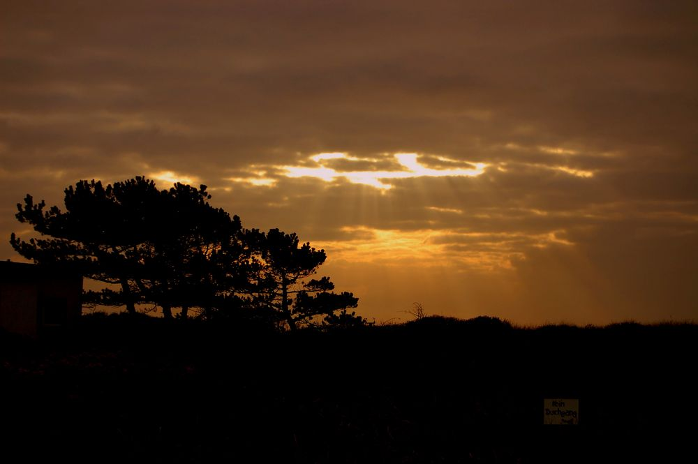 Sonne geht bald unter.