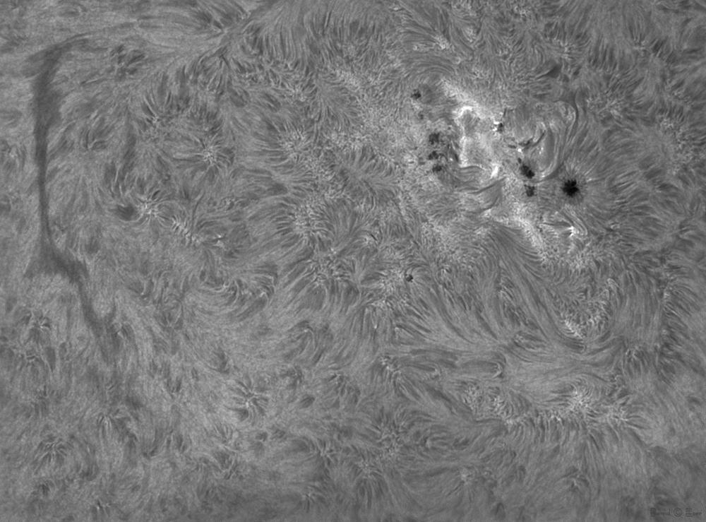 Sonne h-alpha 656.28 nm aktive Region 11271