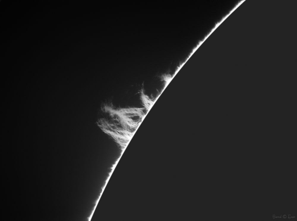 Sonne h-alpha 656.28 nm Protuberanzen