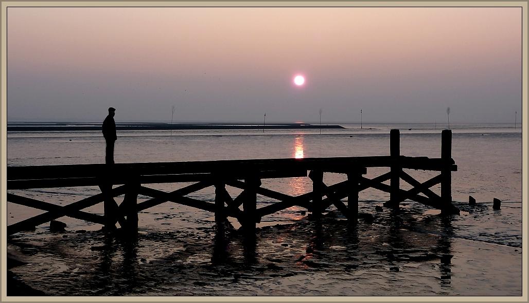 Sonne imWattenmeer