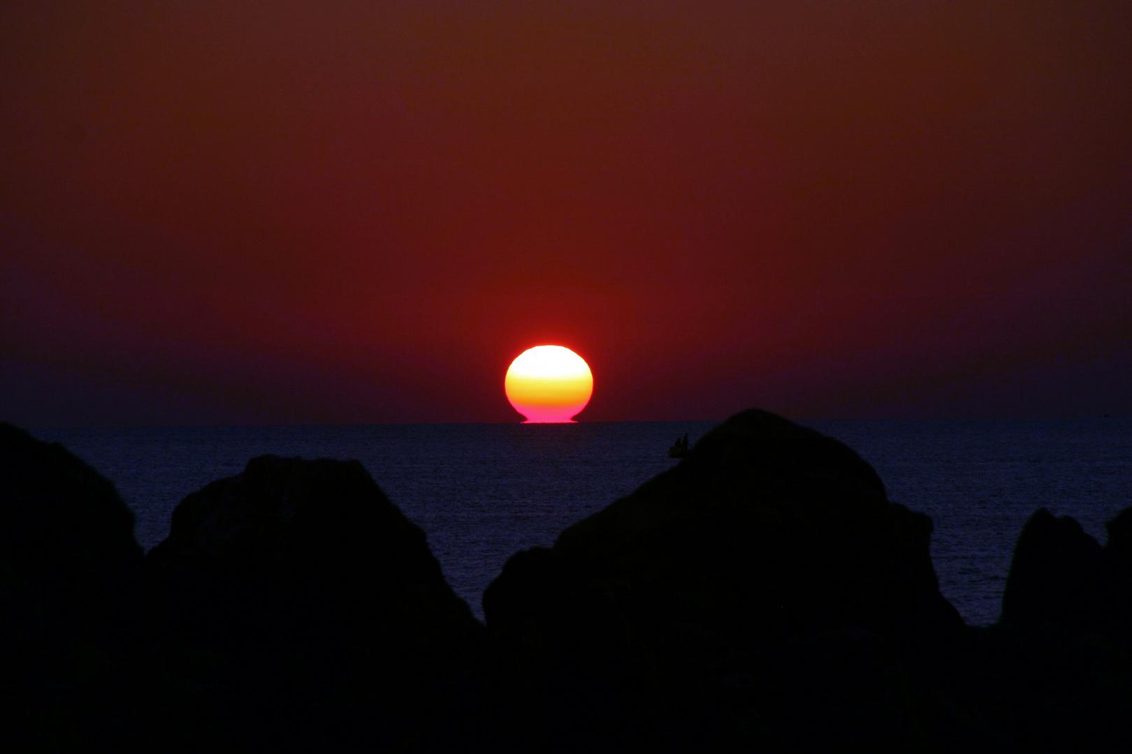 Sonne küsst Meer