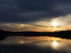 Sonne mit Nebensonne (Halo) ...