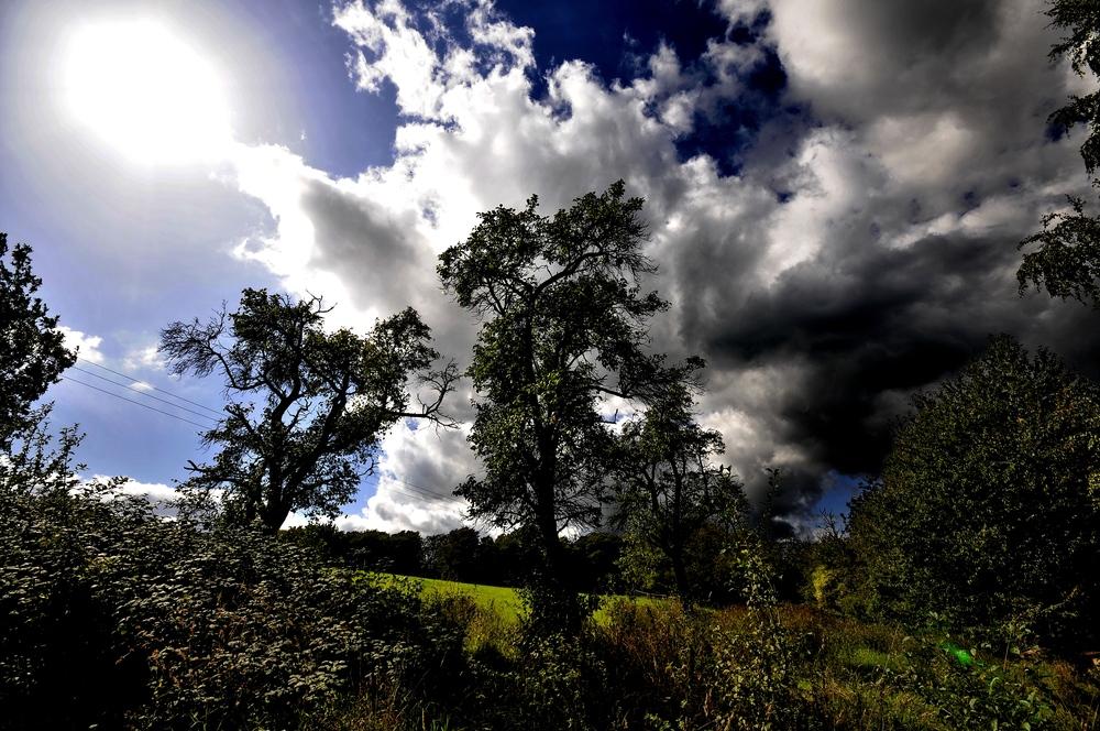 sonne saugt die wolken ein.......BIG SUN