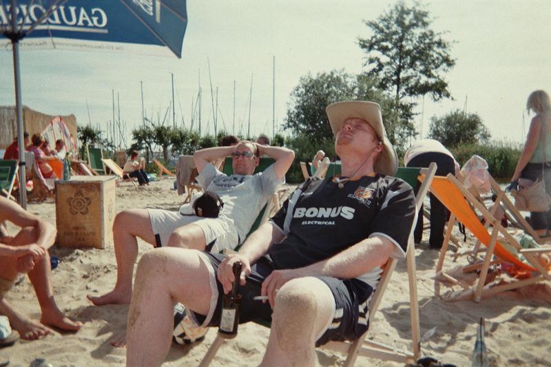 Sonne, Strand und ein schönes kühles Bier.