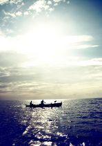 Sonne über dem südchinesischen Meer