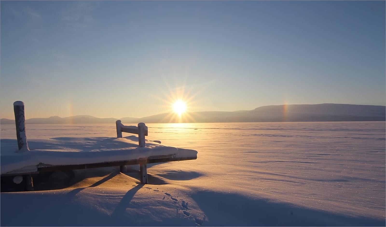 Sonne über Kilpisjärvi