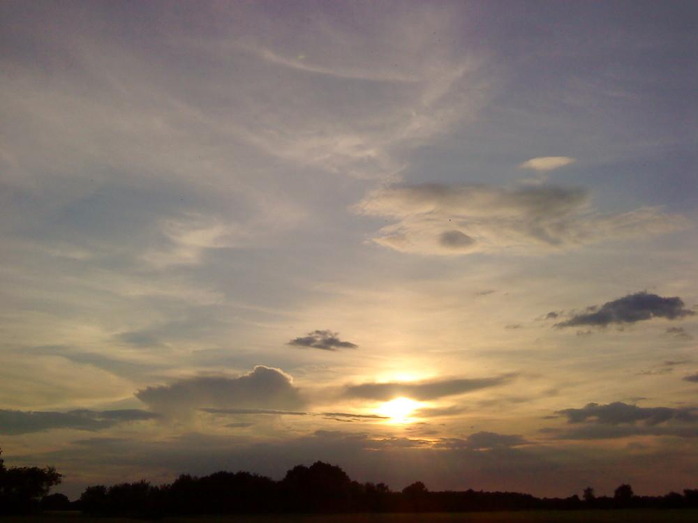 Sonne und Wolken...