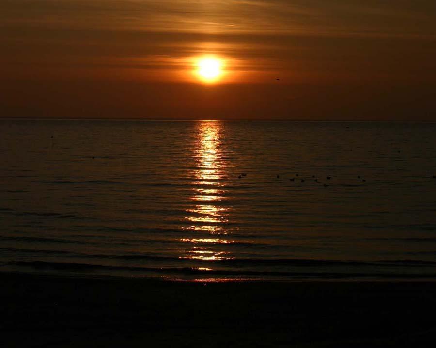 Sonnen im Meer