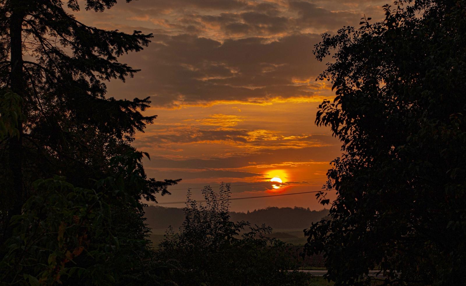 Sonnenaufgang 13.10.19 Mecklenburg