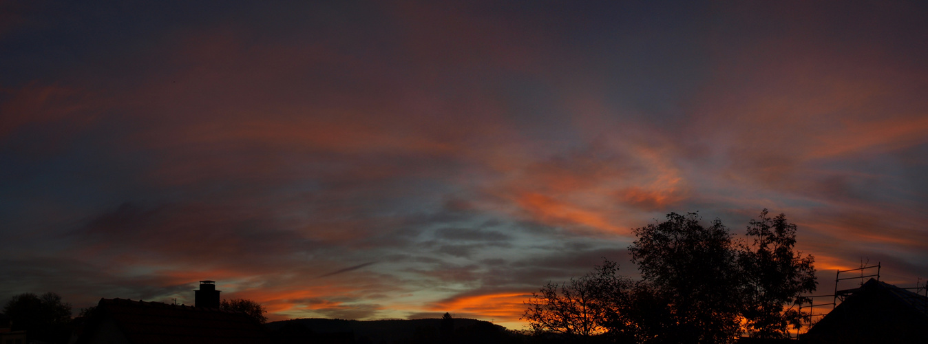 Sonnenaufgang 18.10.2012