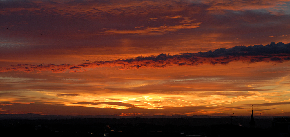 Sonnenaufgang 31.10.2006 ca. 7:10Uhr