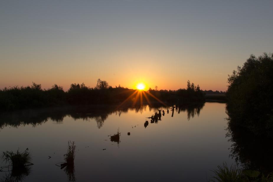 Sonnenaufgang am Aussichtsturm Linteler Weiden