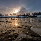 Sonnenaufgang am Badesee