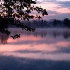 Sonnenaufgang am Baggersee
