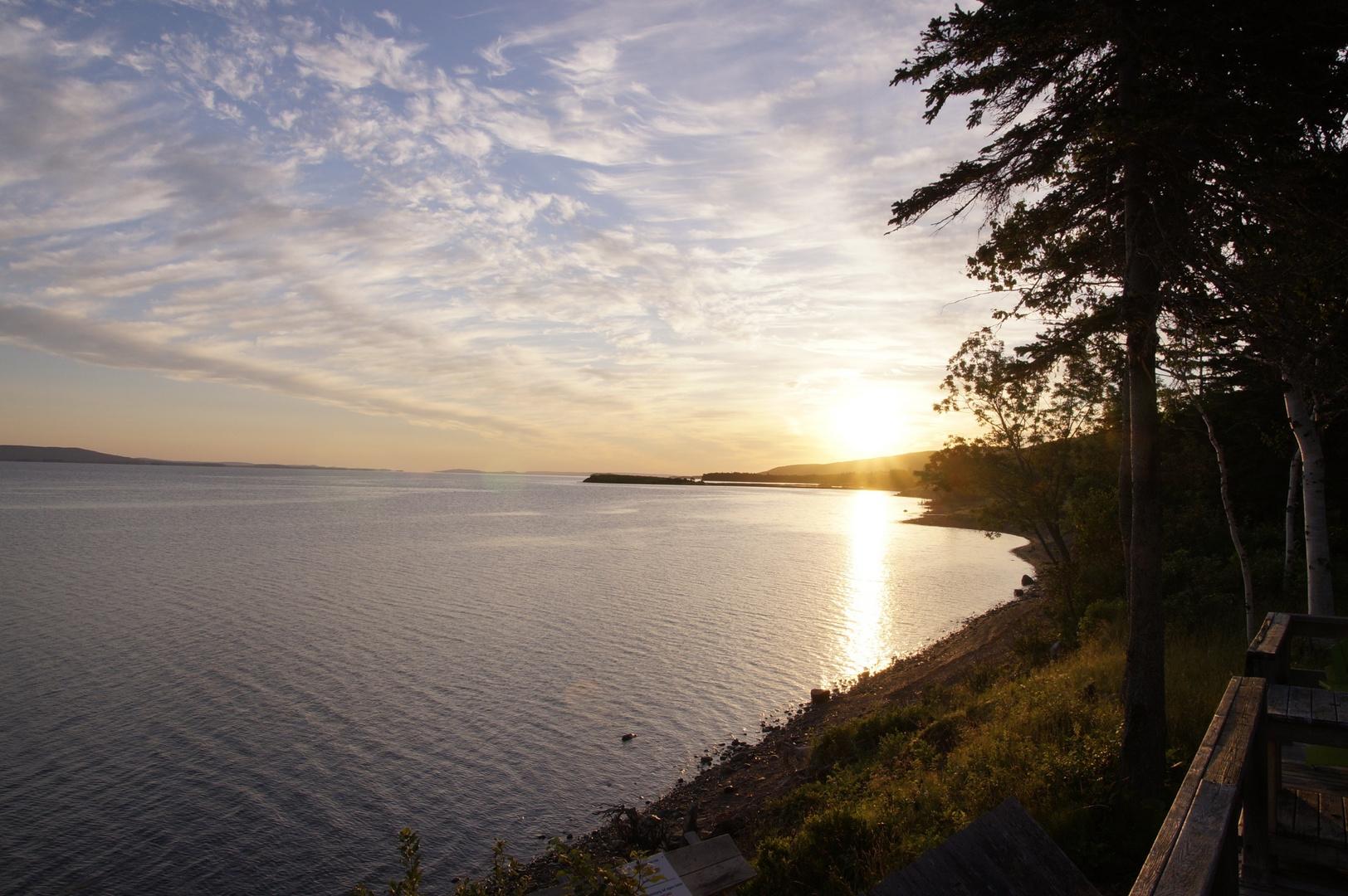 Sonnenaufgang am Bras d'Or Lake