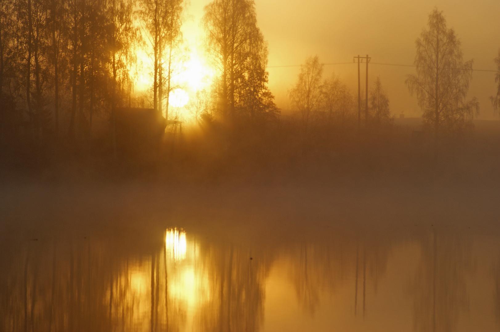 Sonnenaufgang am Dalälven