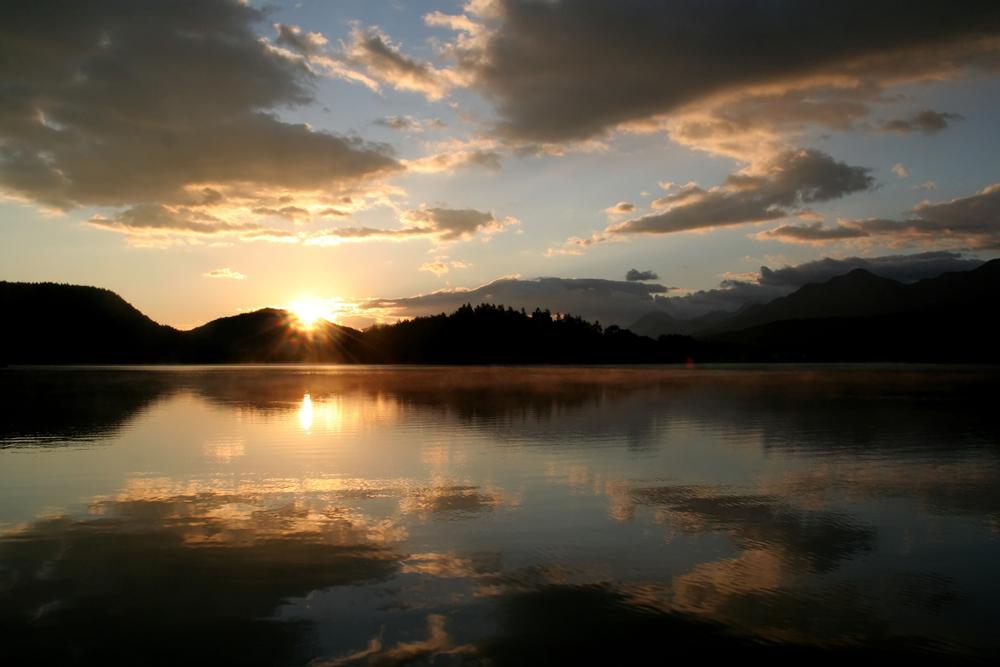 Sonnenaufgang am Faaker See