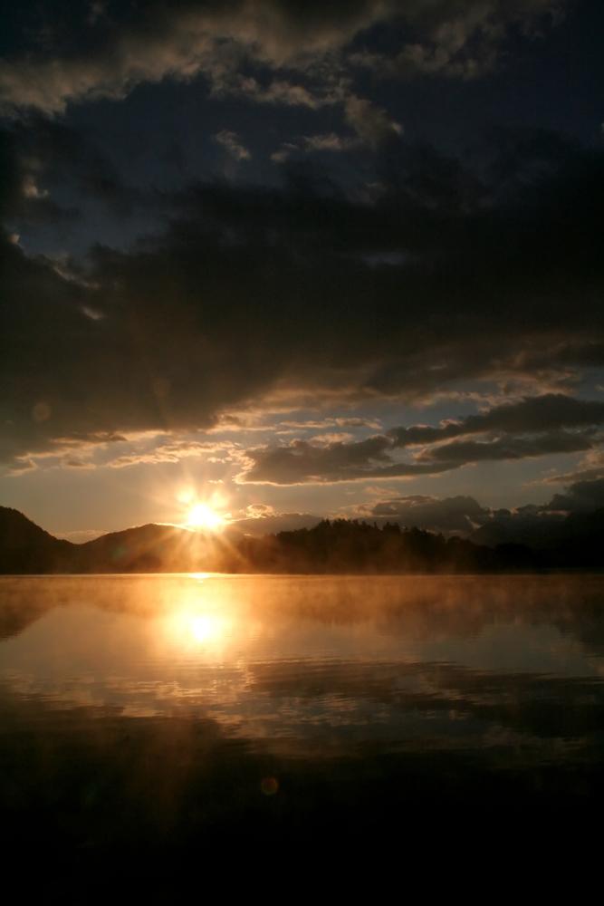 Sonnenaufgang am Faaker See/Kärnten