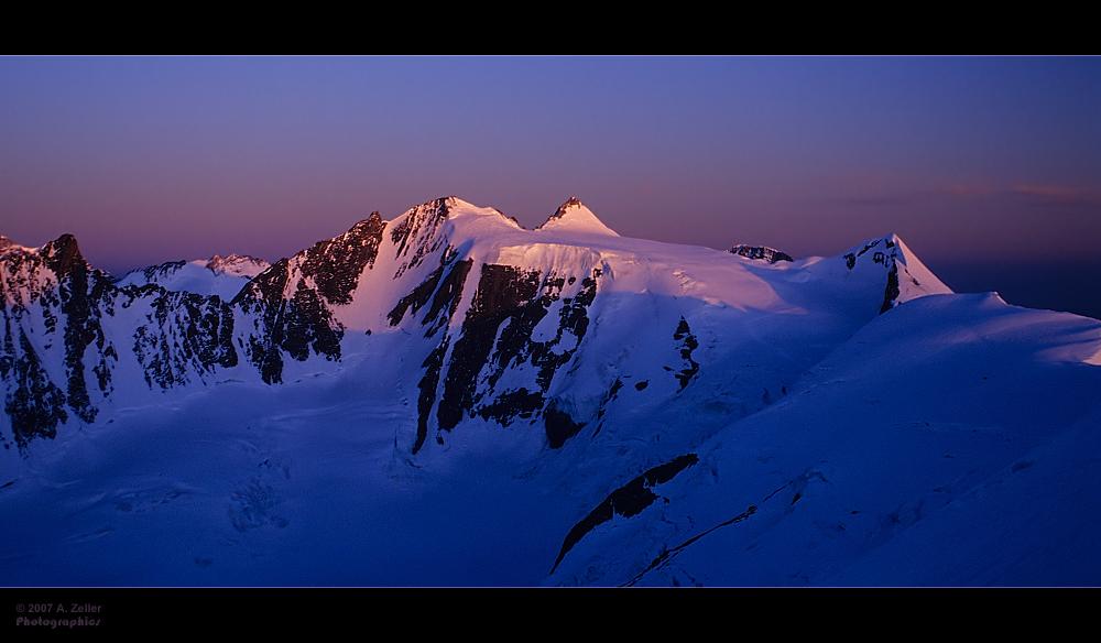 Sonnenaufgang am Fiescherhorn