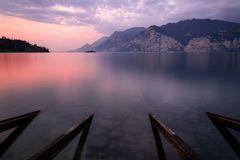 Sonnenaufgang am Gardasee
