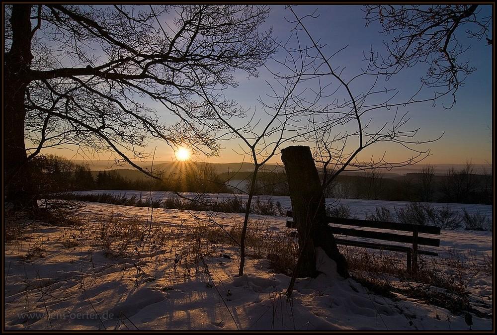 Sonnenaufgang am Hasenbahnhof
