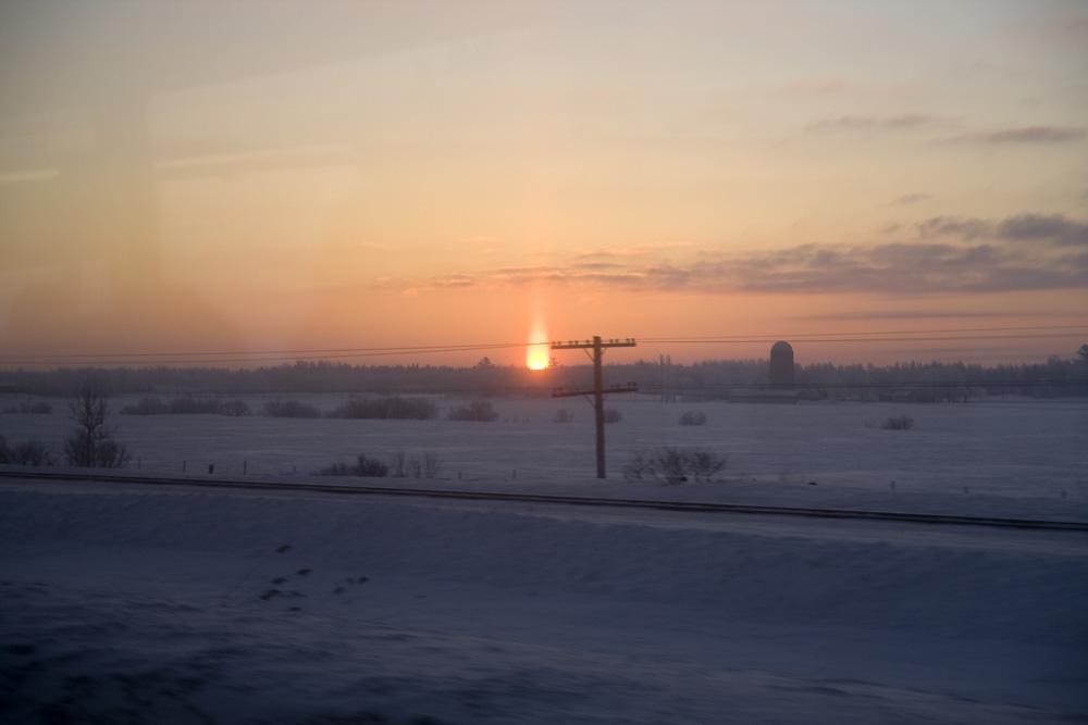 Sonnenaufgang am Highway 40