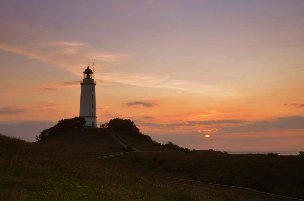 Sonnenaufgang am Leuchtturm Dornbusch