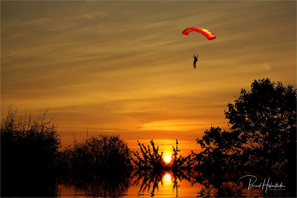 Sonnenaufgang am linken Niederrrhein .....