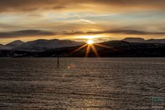 Sonnenaufgang am Polarkreis