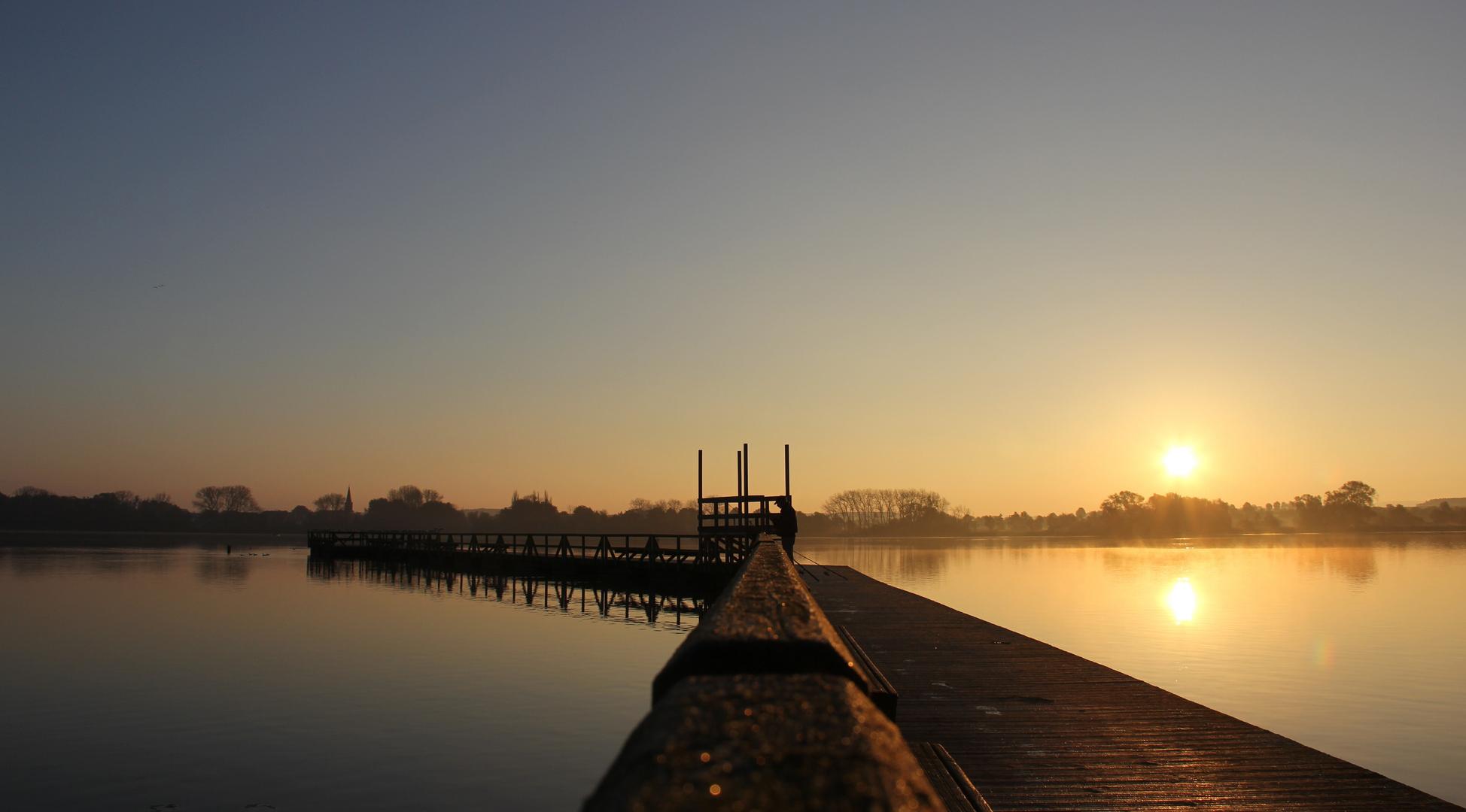 Sonnenaufgang am Seeburger See,