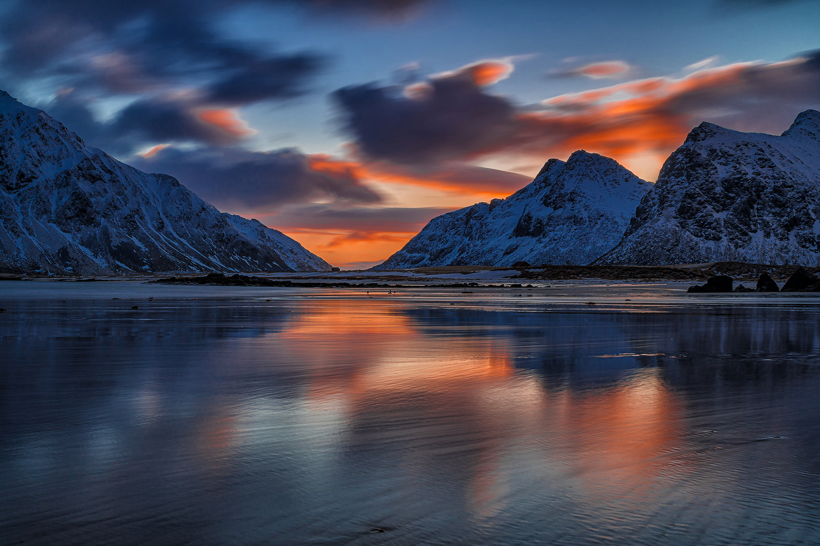 Sonnenaufgang am Skagsanden