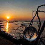 Sonnenaufgang am Strand von Bibione Pineda